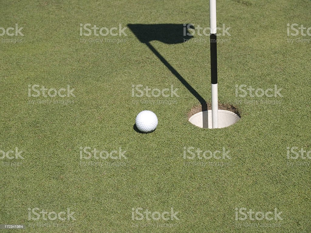 The Perfect Putt royalty-free stock photo