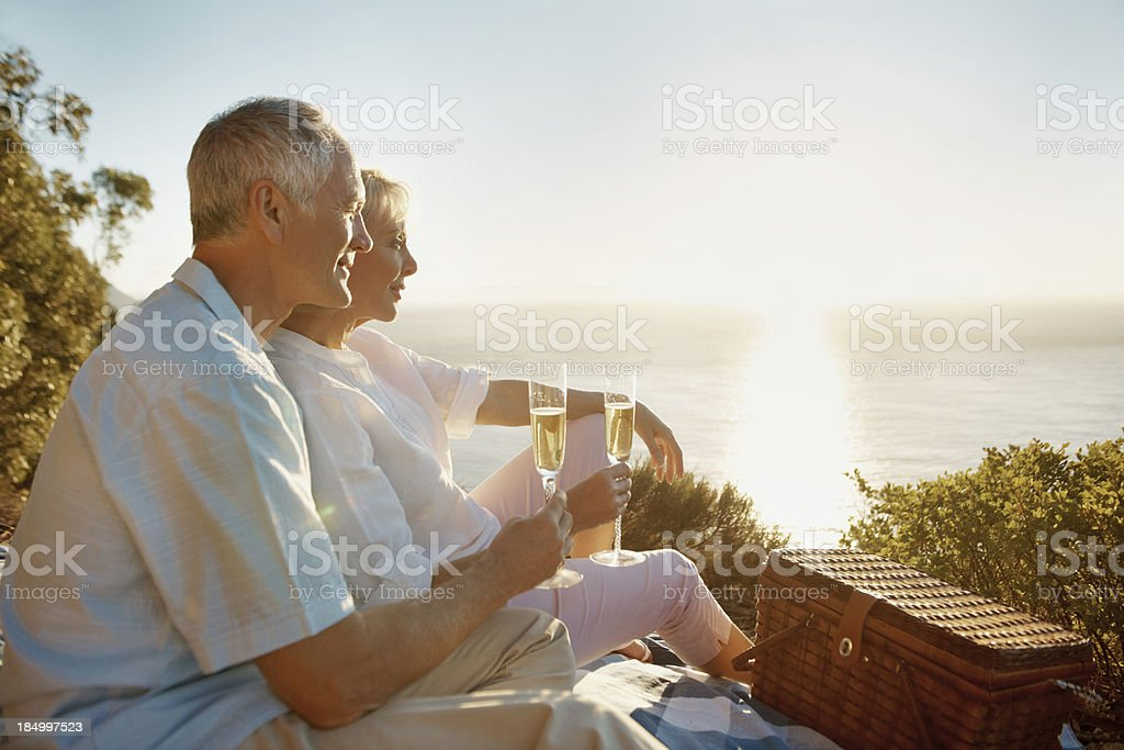 The perfect setting for their anniversary royalty-free stock photo