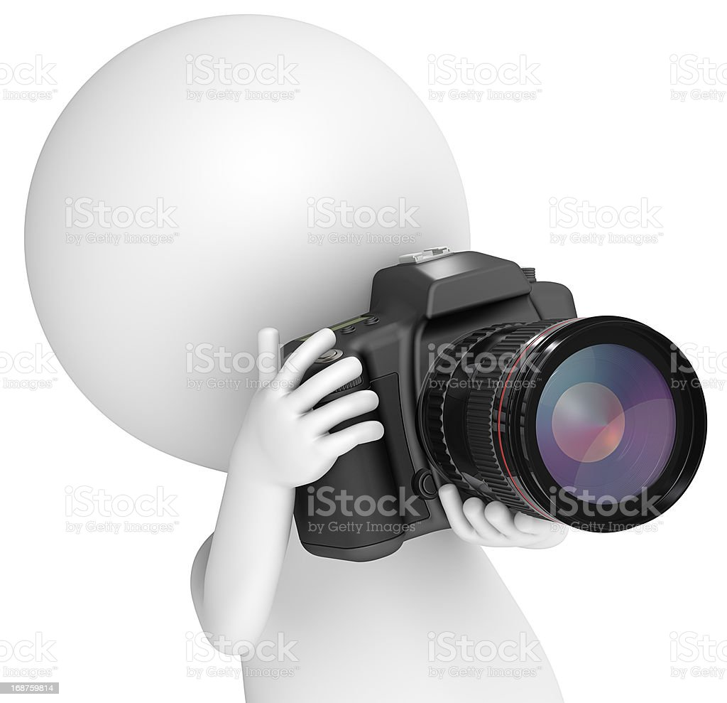 The perfect shot. royalty-free stock photo