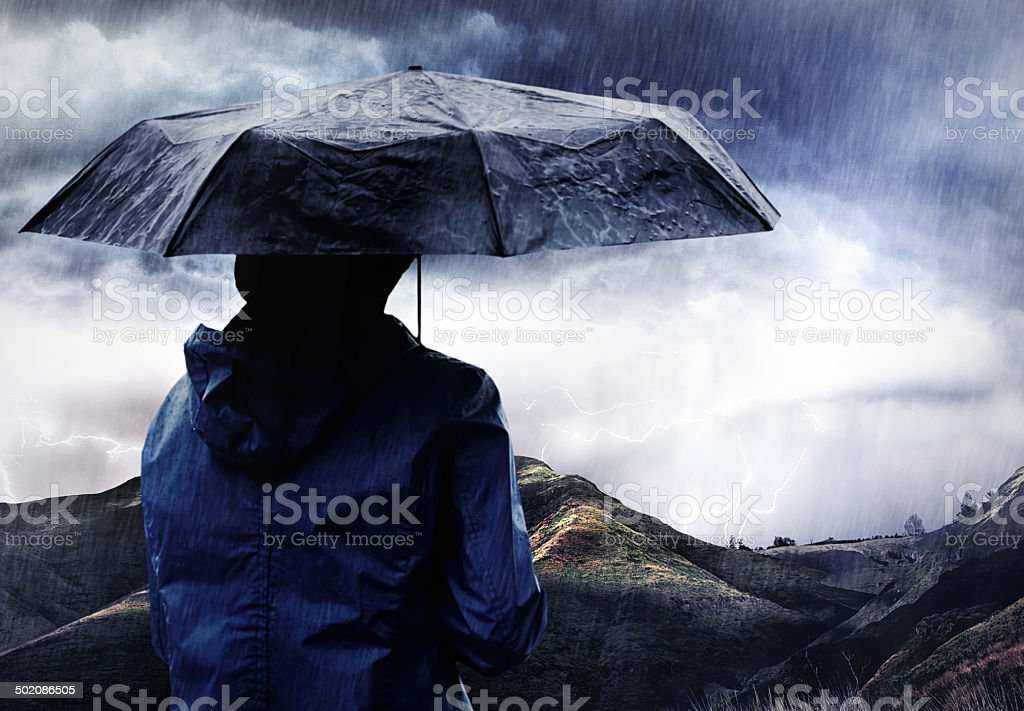 The perfect storm... stock photo