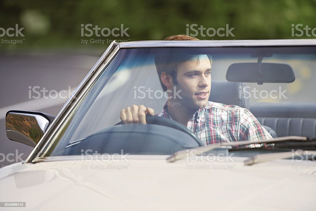 The perfect Sunday drive royalty-free stock photo