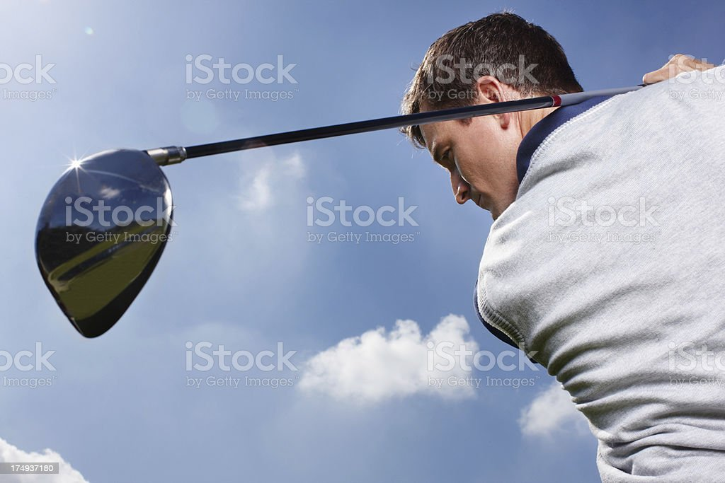 The perfect swing royalty-free stock photo