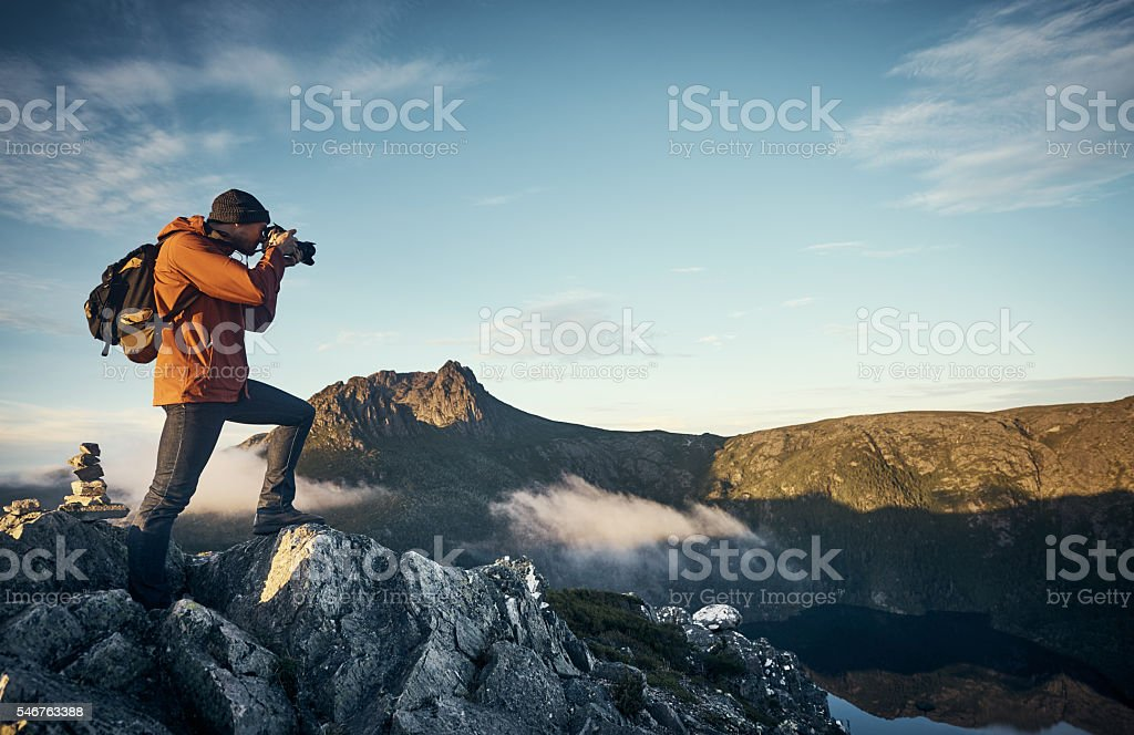 The perfect vantage point stock photo