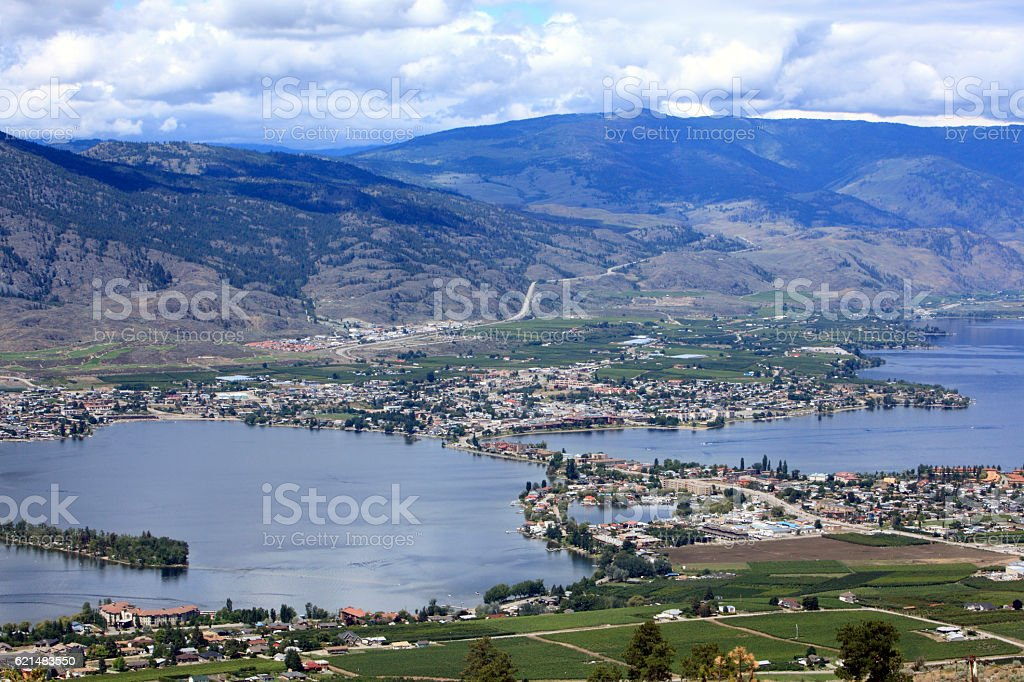 The Perfect View Of Osoyoos stock photo