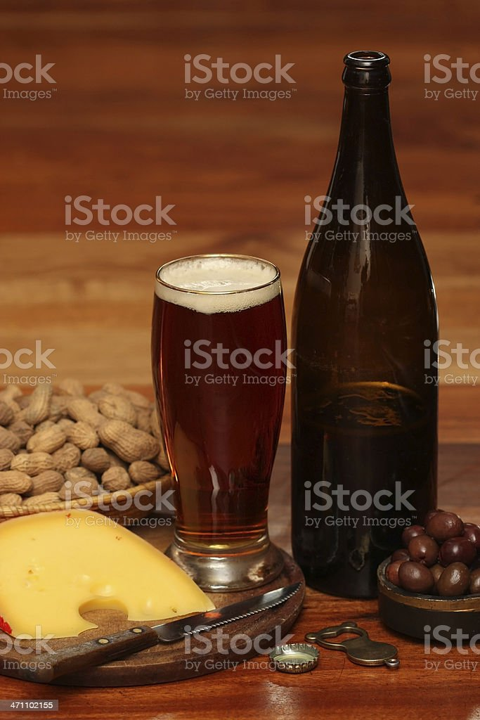 The Perfect way to Serve a Pint of Beer royalty-free stock photo