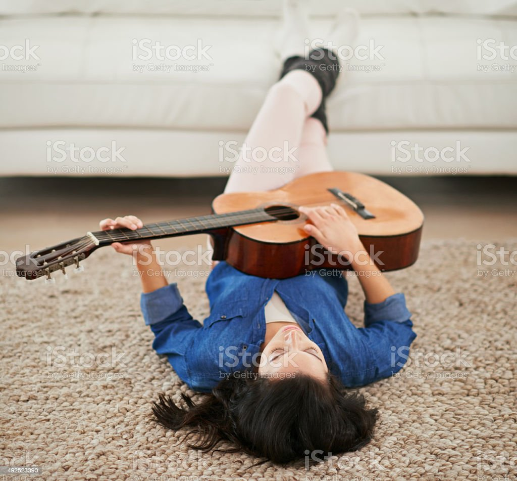 The perfect way to unwind stock photo