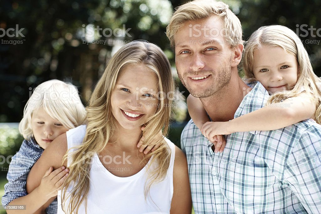 The perfect young family royalty-free stock photo