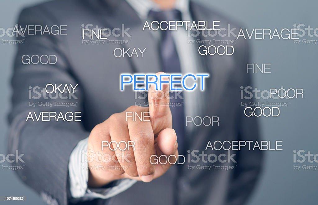 The perfectionist stock photo