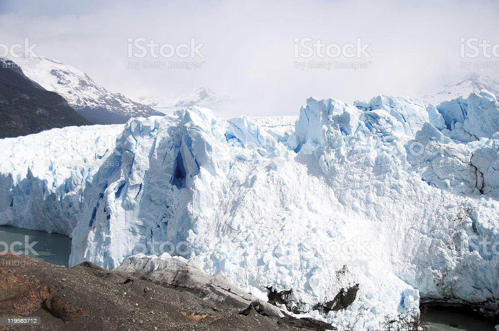 The Perito Moreno Glacier in Patagonia, Argentina. royalty-free stock photo