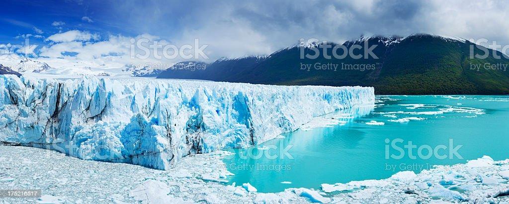 The Perito Moreno Glacier in Patagonia, Argentina stock photo
