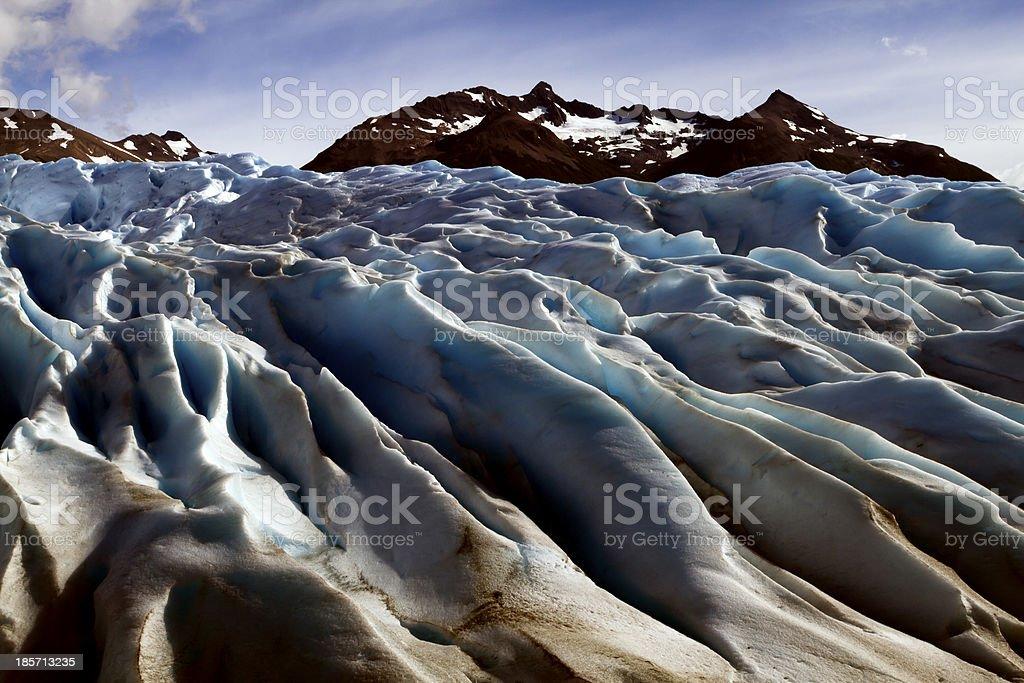 The Perito Moreno Glacier, Patagonia, Argentina melting stock photo