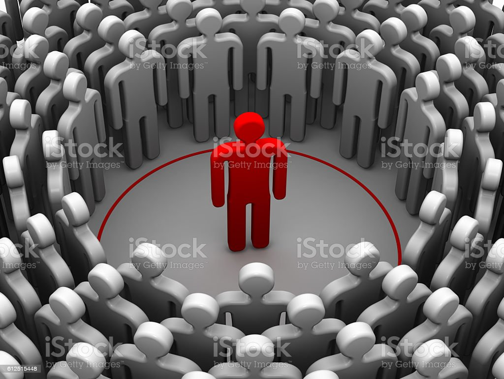 The person is an introvert or sociophobe. The concept stock photo