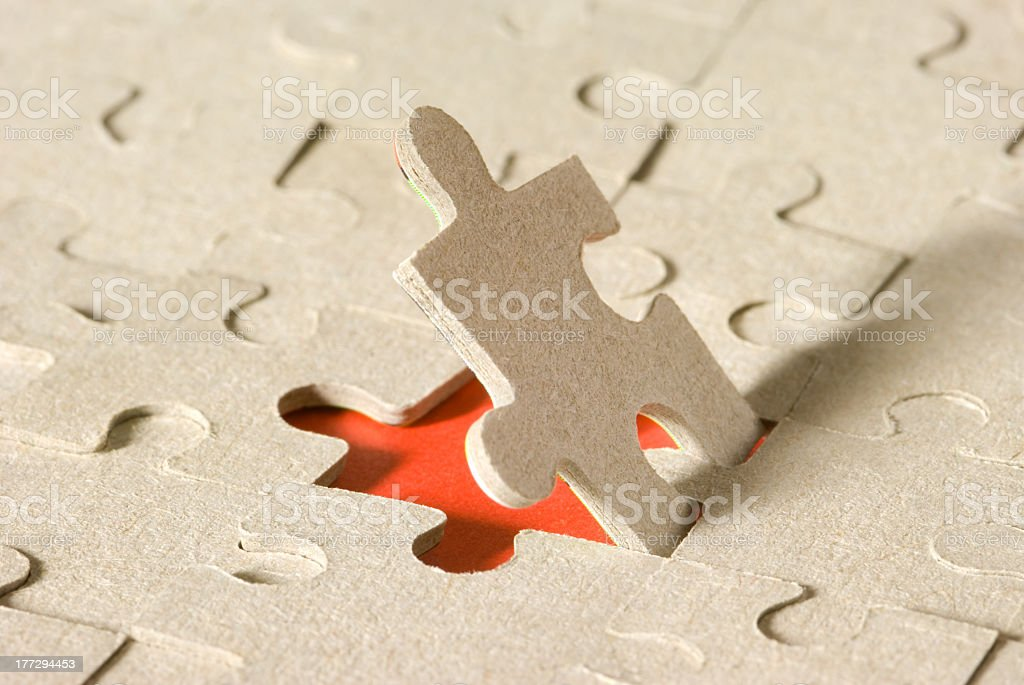 The person. Puzzles stock photo