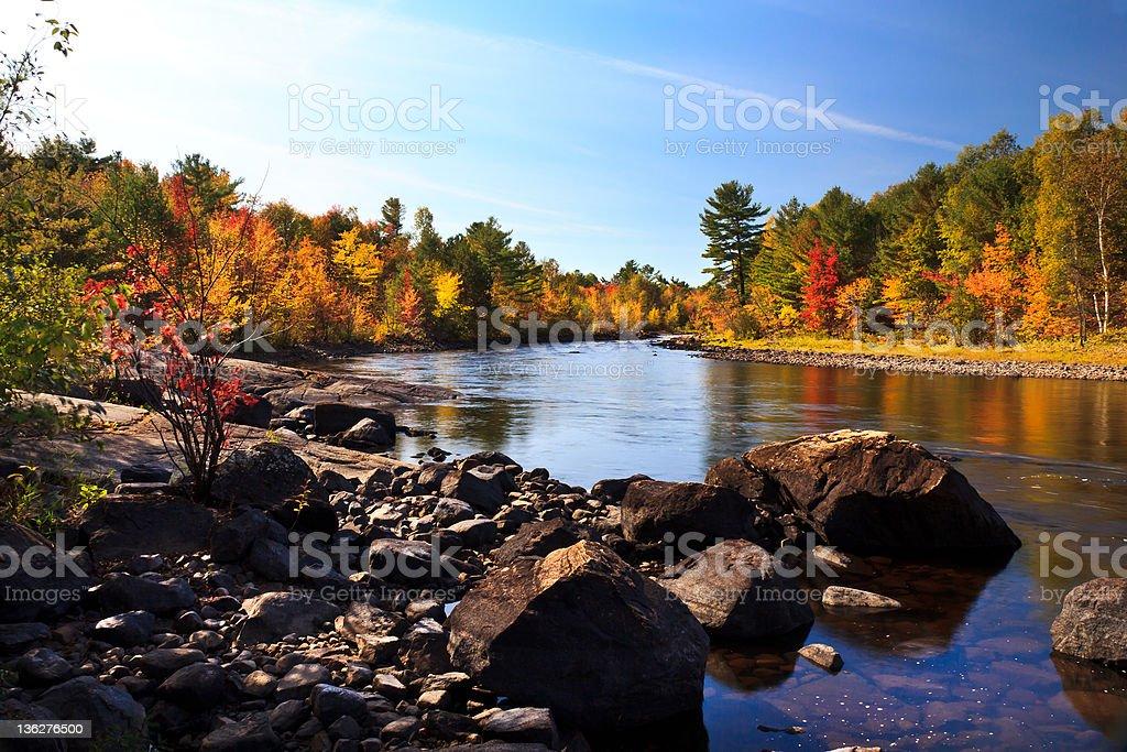 The Petawawa River stock photo