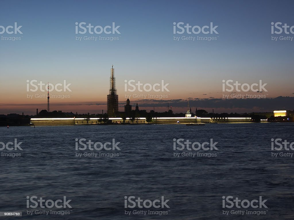 The Peter and Paul fortress, St.Petersburg royalty-free stock photo