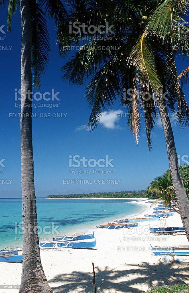 The Philippines, Ilocos Norte, Pagudpud Beach. stock photo