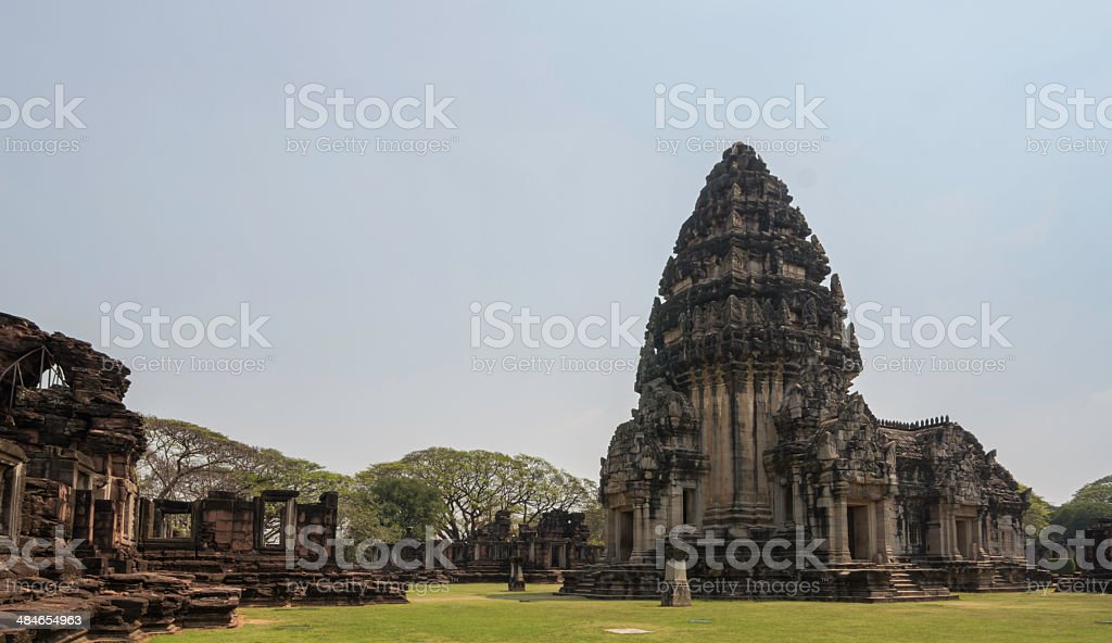 The Phimai historical park in Thailand stock photo