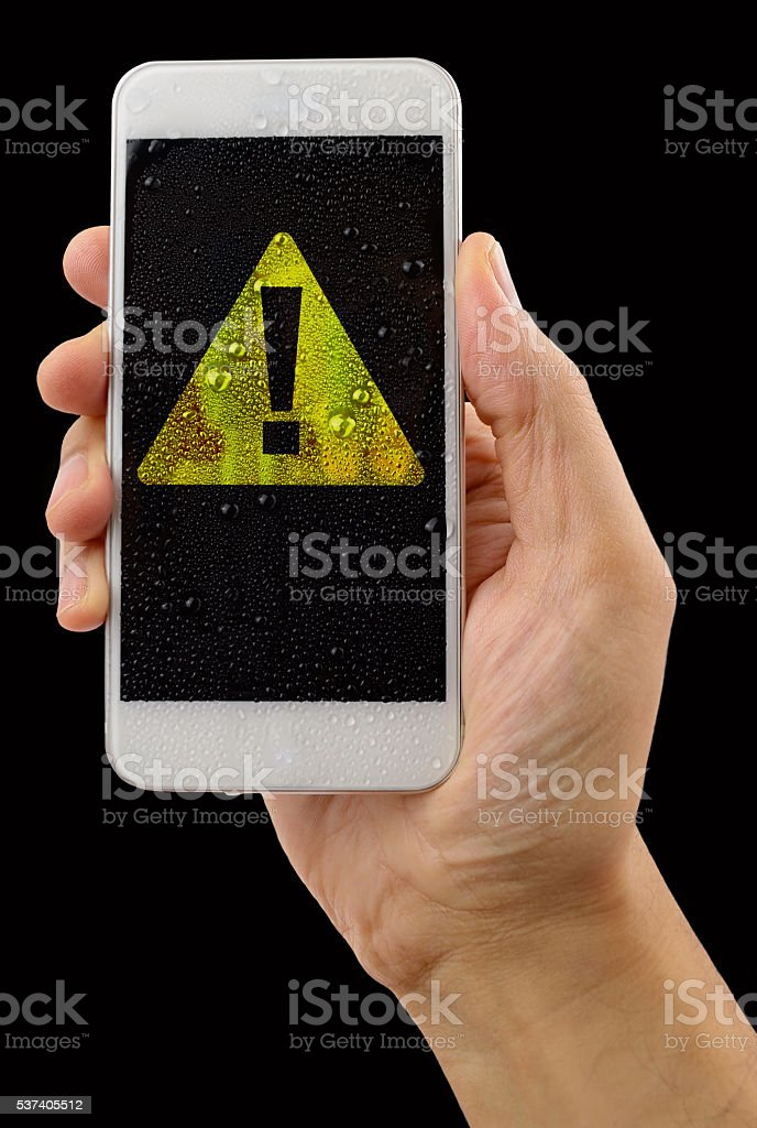 the phone is in danger stock photo
