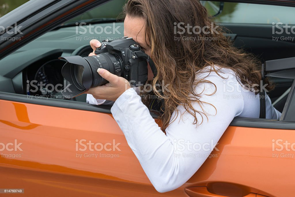 The photographer stock photo