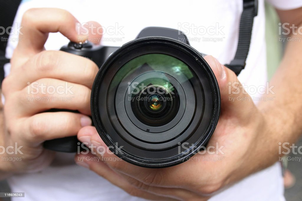 The photographers. royalty-free stock photo