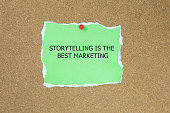 The phrase Storytelling is the best Marketing