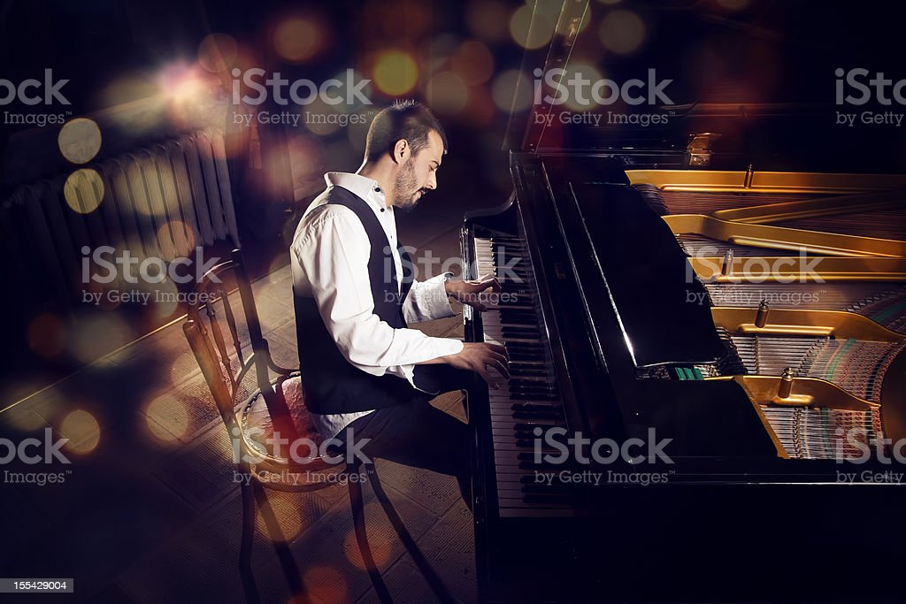 the pianist stock photo