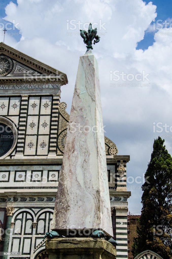 The Piazza of Santa Maria Novella stock photo