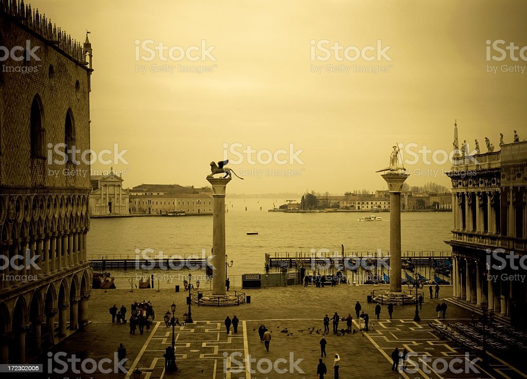 The Piazzetta San Marco royalty-free stock photo
