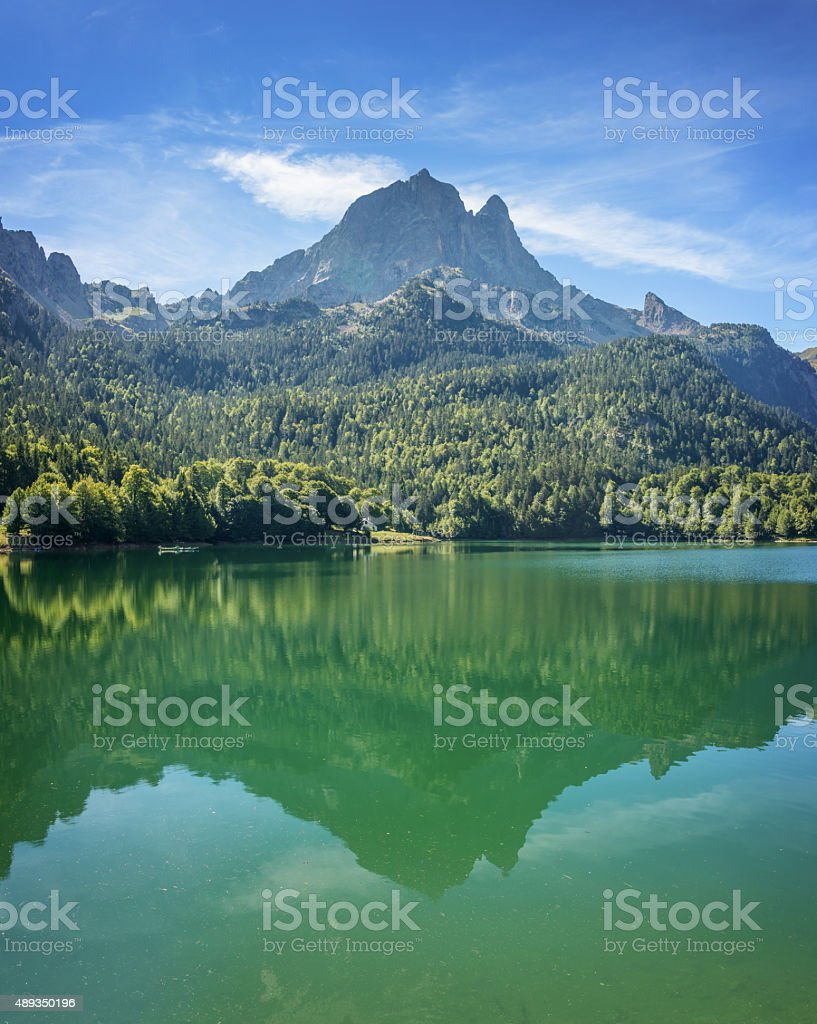 The Pic du Midi d Ossau, Ossau Valley, Pyrenees, France stock photo