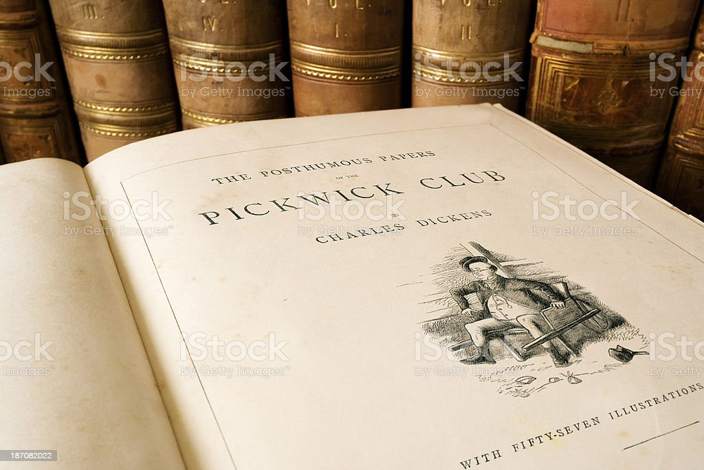 The Pickwick Club - Charles Dickens stock photo
