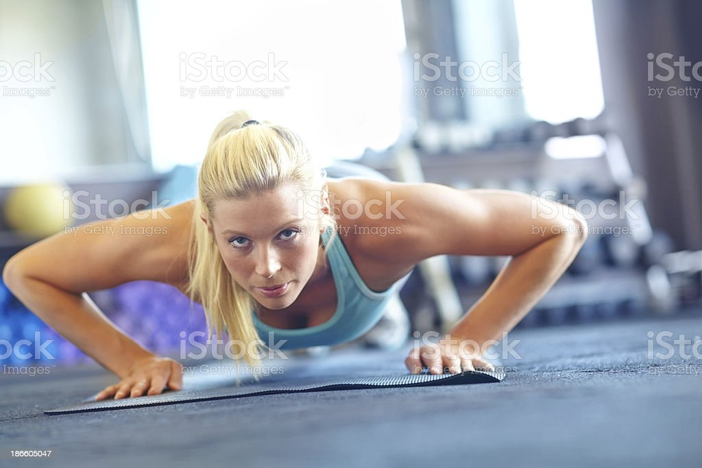 The picture of fitness royalty-free stock photo