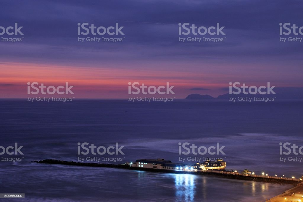 The Pier and the Ocean stock photo