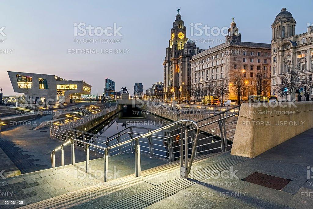 The Pier head Liverpool stock photo