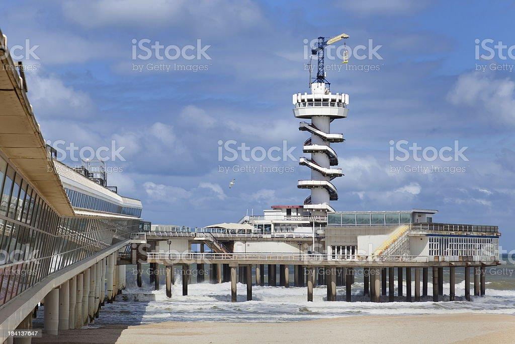 The Pier in Scheveningen, Netherlands royalty-free stock photo