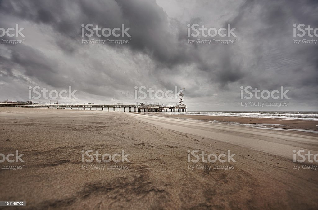 The Pier in Scheveningen, Netherlands royalty-free stock photo