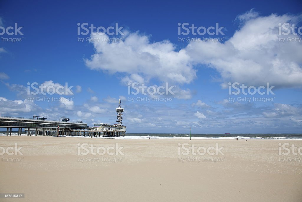 The Pier in Scheveningen, Netherlands stock photo