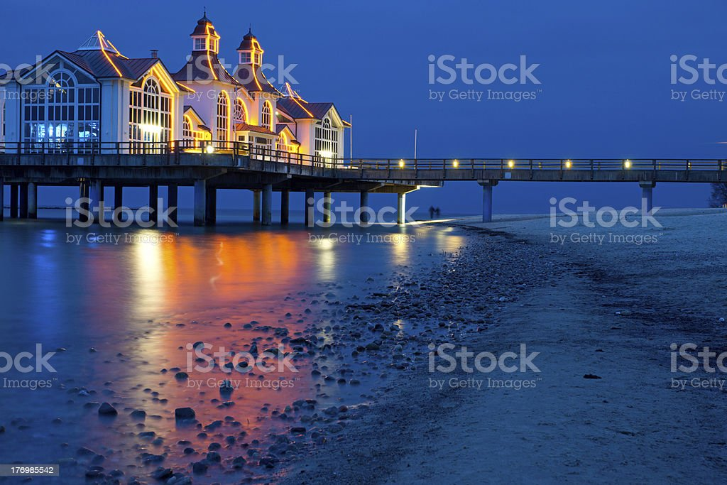 The pier of Sellin stock photo