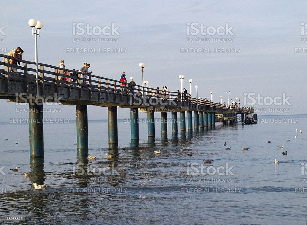 the pier stock photo
