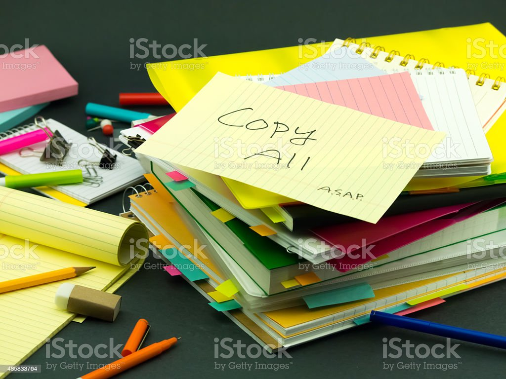 The Pile of Business Documents; Copy All stock photo
