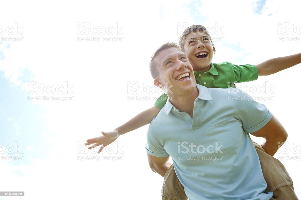 The pillar of support in his son's life royalty-free stock photo
