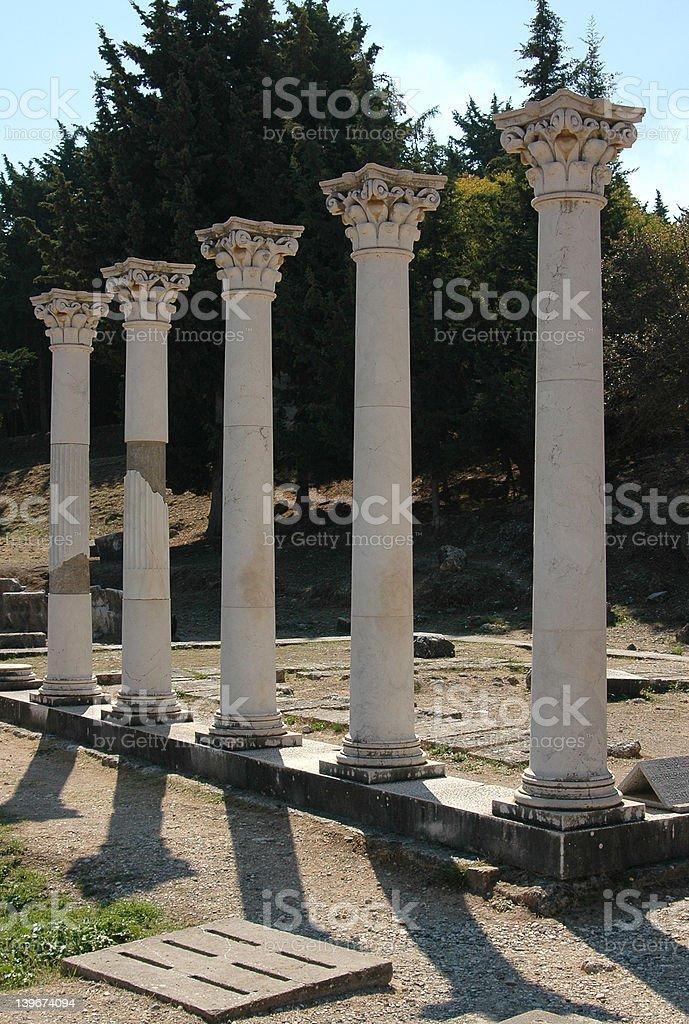 The pillars of hippocrates stock photo