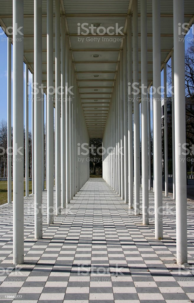 The pillars of town royalty-free stock photo