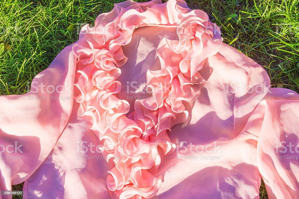 The pink female shirt stock photo