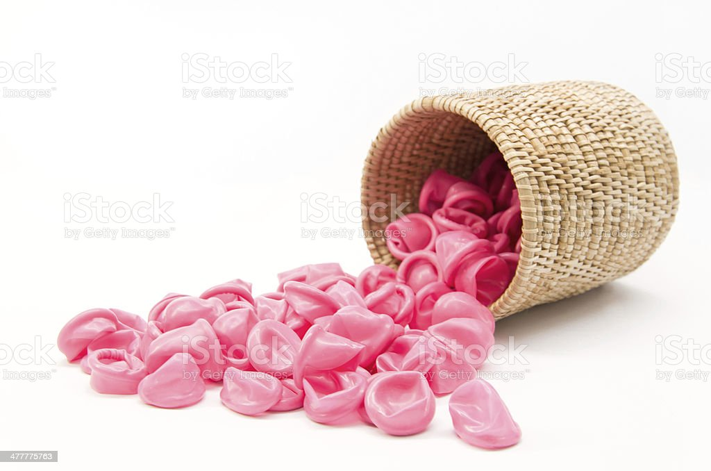 The Pink finger cot stock photo
