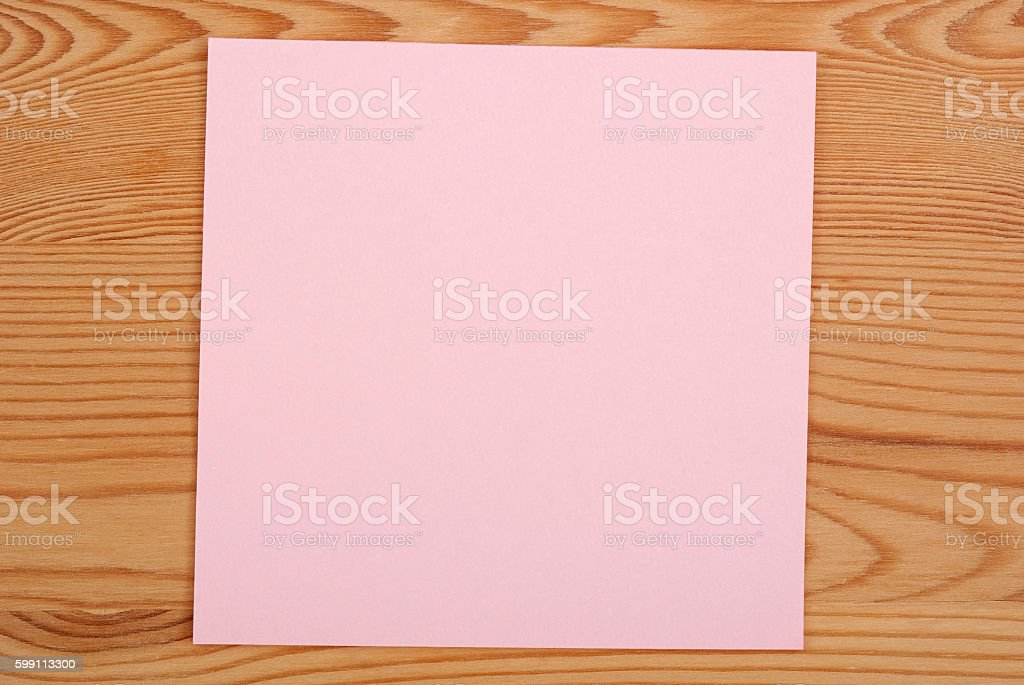 The pink square blank sheet royalty-free stock photo