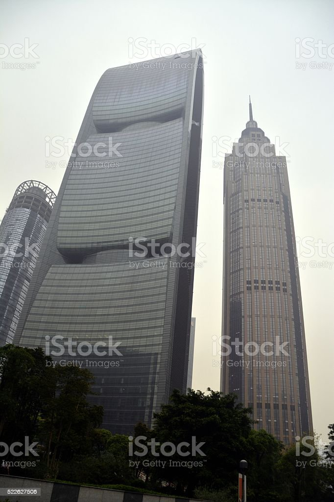 The Pinnacle and Pearl River Tower, Guangzhou, China stock photo
