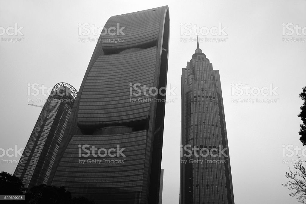 The Pinnacle and the Pearl River Tower, Guangzhou, China stock photo