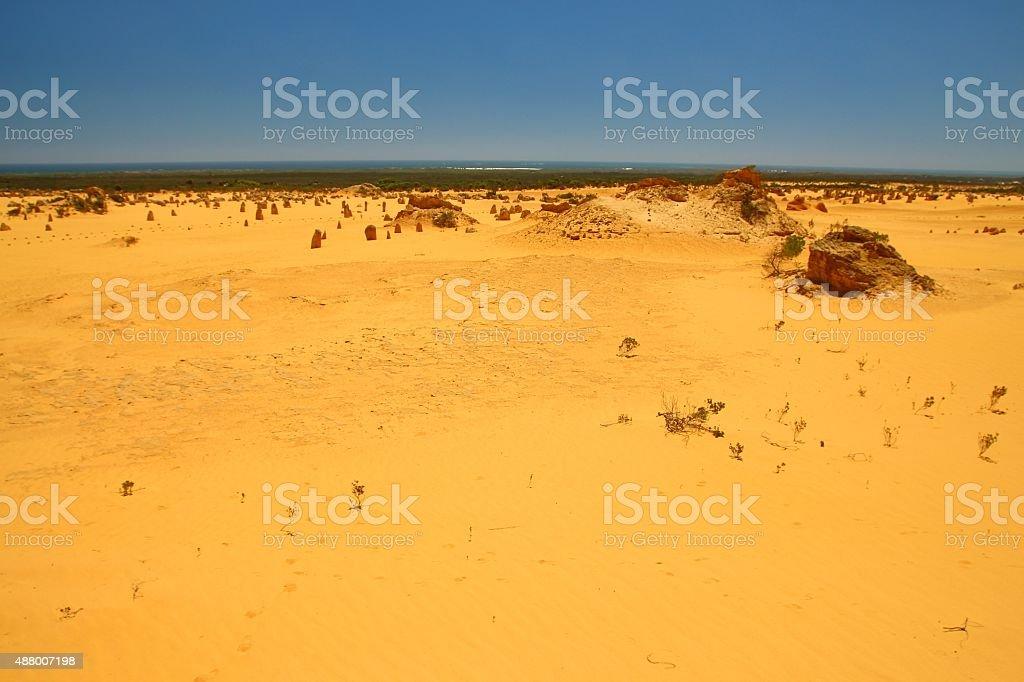 The Pinnacles Desert, Australia stock photo