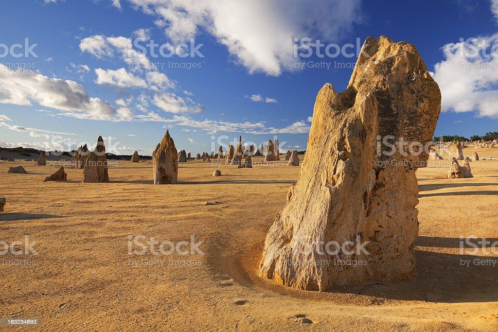 The Pinnacles Desert in Nambung National Park, Western Australia stock photo