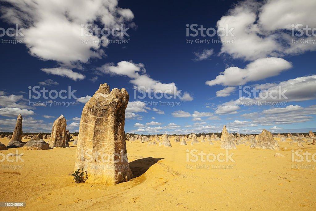 The Pinnacles Desert in Nambung National Park, Western Australia royalty-free stock photo